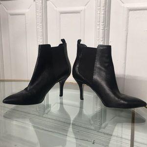 Michael Kors Black High Heel Ankle Leather Booties